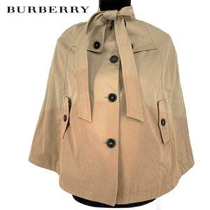 RARE Burberry Girls Trench Cape Coat Dip Dye 10Y